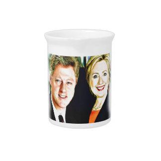 President Bill Clinton & President Hillary Clinton Pitcher