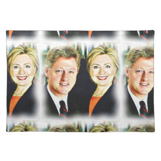 President Bill Clinton & President Hillary Clinton Placemat
