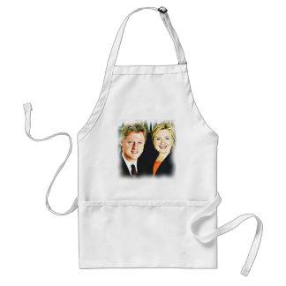President Bill Clinton & President Hillary Clinton Standard Apron