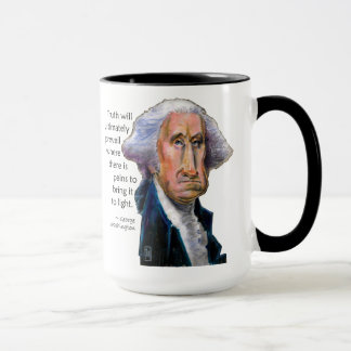 President Caricature Mug: Washington Quote Mug