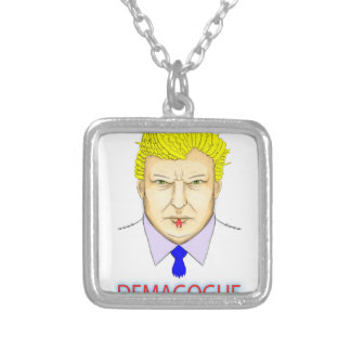 President Demagogue Silver Plated Necklace