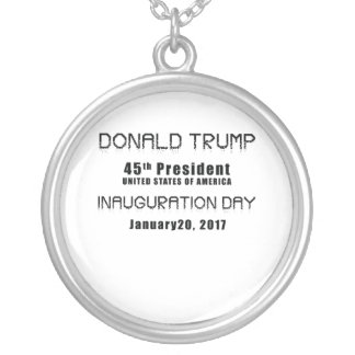 President Donald J. Trump Inauguration Day 2017 Silver Plated Necklace