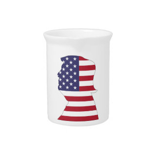 PRESIDENT DONALD TRUMP AMERICAN FLAG PITCHER