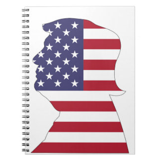 PRESIDENT DONALD TRUMP AMERICAN FLAG SPIRAL NOTEBOOK