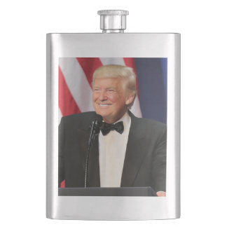 President Donald Trump At His Inauguration Hip Flask