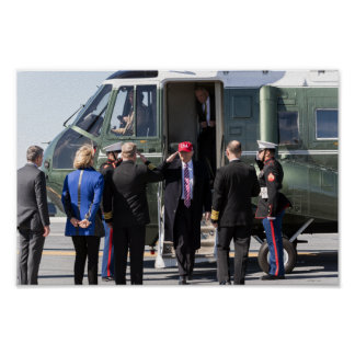 President Donald Trump Exits Marine One Poster