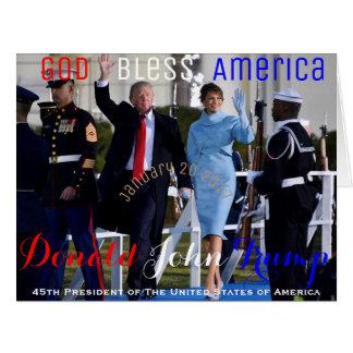 President Donald Trump First Lady Melania Card