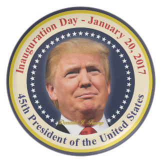 President Donald Trump Inauguration Day Souvenir Party Plate