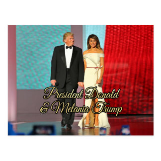 President Donald Trump & Melania Photo Postcard