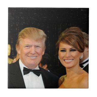 PRESIDENT DONALD TRUMP & MELANIA TILE