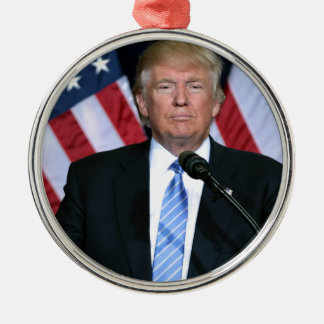 President Donald Trump Metal Ornament