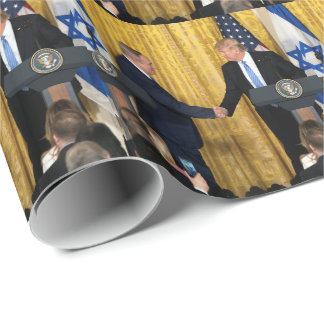 President Donald Trump & PM Benjamin Netanyahu Wrapping Paper