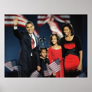 President-Elect Obama & Family Poster