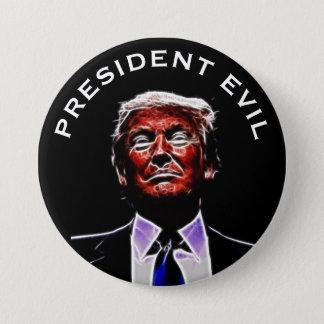 """President Evil"" with Trumpenstein Picture 7.5 Cm Round Badge"