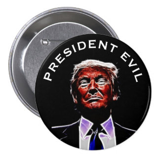 """President Evil"" with Trumpenstein Picture 7.5 Cm Round Badge"