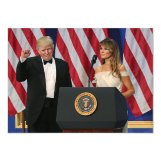 President & First Lady Trump At Inauguration Card