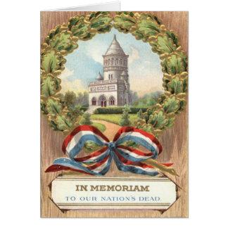 President Garfield's Tomb Wreath Greeting Card