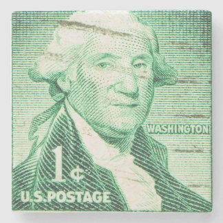 President George Washington Vintage Postage Stamp Stone Coaster