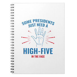 President High-Five Face Notebooks