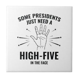 President High-Five Face Tile