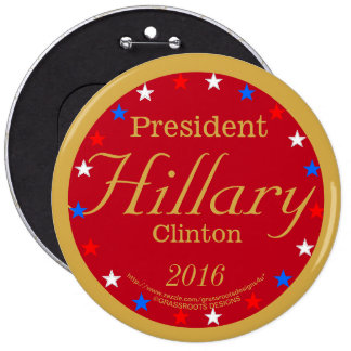 President Hillary Clinton 2016 Fired-up Red 6 Cm Round Badge