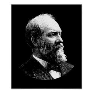 President James Garfield Graphic Poster