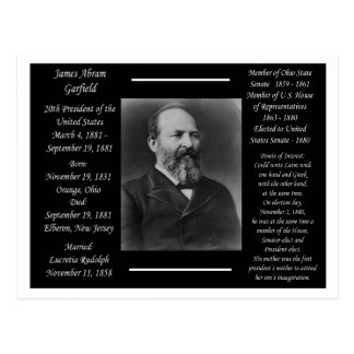 President James Garfield Postcard