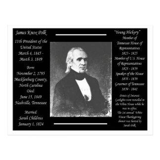 President James K Polk Postcard