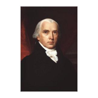 President James Madison Portrait by John Vanderlyn Canvas Print