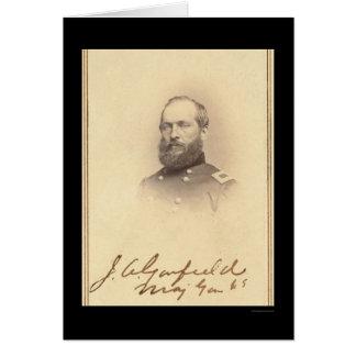 President James Signed Card 1861