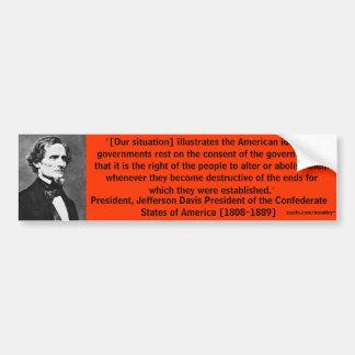 President Jefferson Davis Bumper 7 Bumper Sticker