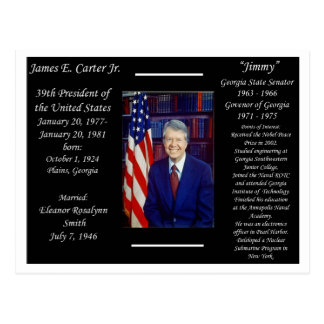 President Jimmy Carter Postcard