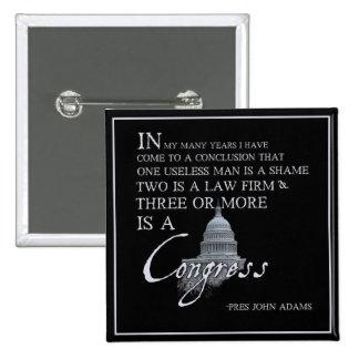 President John Adams on Congress Pins