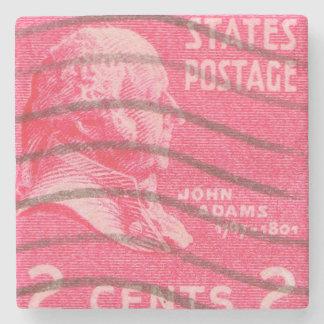 President John Adams Vintage Postage Stamp Stone Coaster