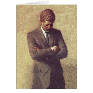 President John F Kennedy Official Portrait Card