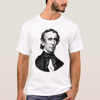 President John Tyler Graphic - Black and White T-Shirt