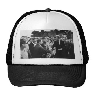 President Kennedy Greets Peace Corps Volunteers Cap