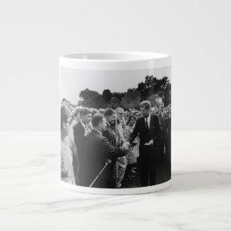 President Kennedy Greets Peace Corps Volunteers Jumbo Mug