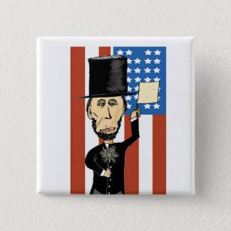 President Lincoln 2 Inch Square Button
