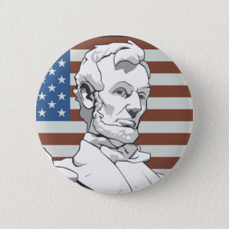 President Lincoln 6 Cm Round Badge
