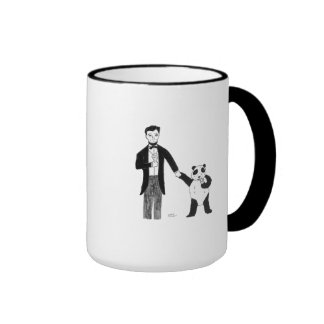 President Lincoln and a Panda Enjoy Ice Cream Mugs