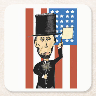 President Lincoln Custom Square Coasters