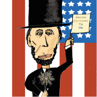 President Lincoln Happy Bday 2 Me Photo Sculpture