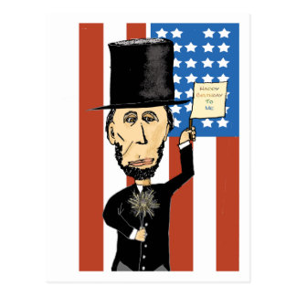 President Lincoln Happy Bday 2 Me Postcard