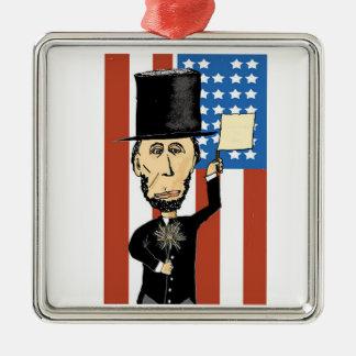 President Lincoln Premium Square Ornament