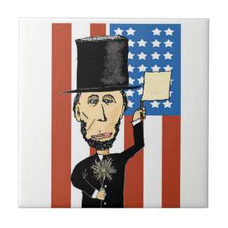 President Lincoln Small Ceramic Photo Tile