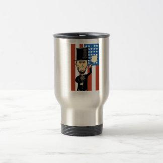 President Lincoln Stainless Steel 15 oz Travel Mug