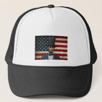 president lincoln trucker hat