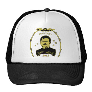 President Newt Gingrich 2012 Hats