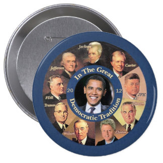 President Obama 2012 10 Cm Round Badge